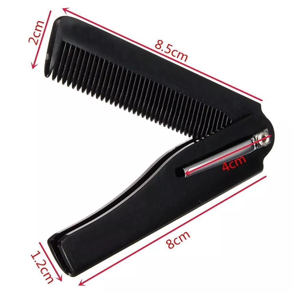 Taille peigne barbe pliable